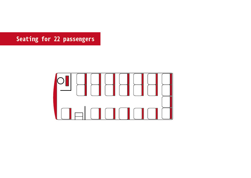 Seating for 22 passengers