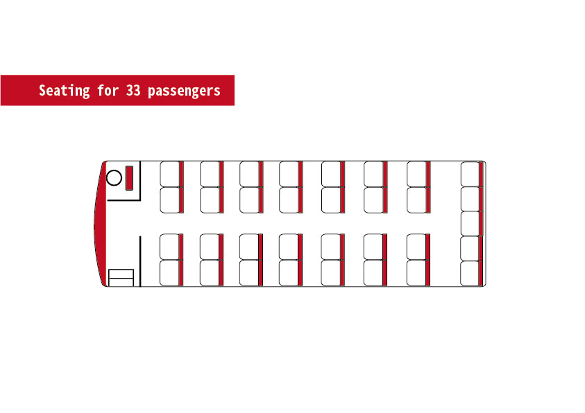 Seating for 33 passengers