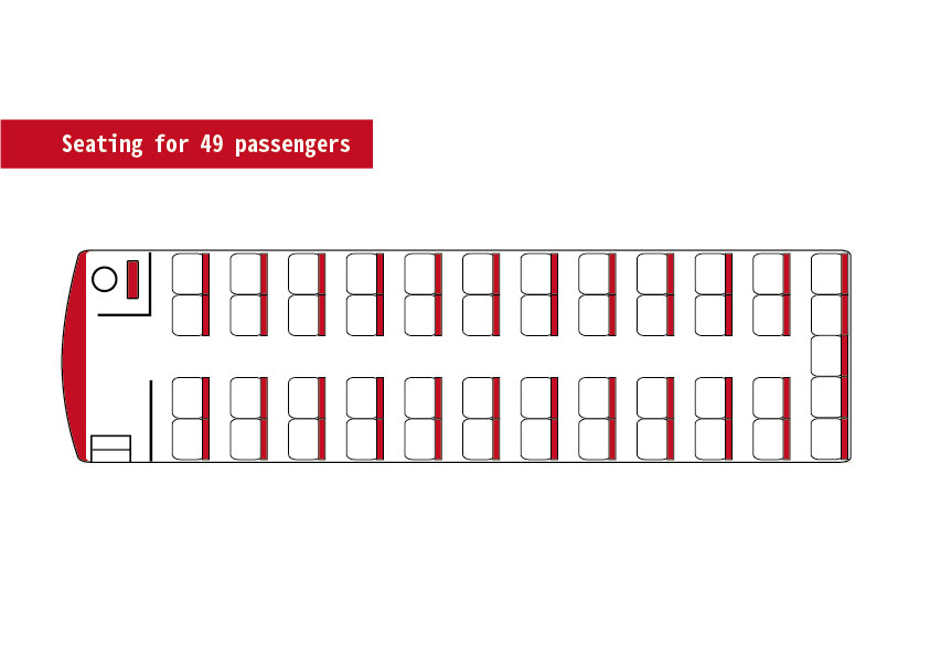 Seating for 49 passengers